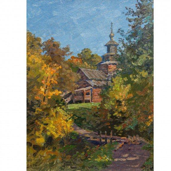Деревянная церковь Мочалин Николай