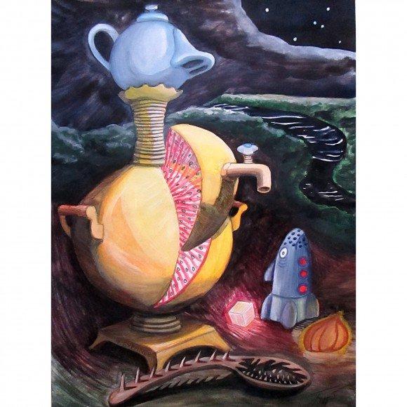 Чайник с коротким носиком (натюрморт) Буравлёв Фёдор