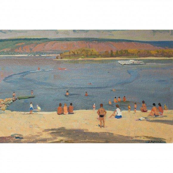Волга. Пляж на Бахиловой Ларионов Василий