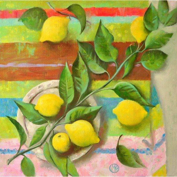 Натюрморт с лимонами Князева Мария