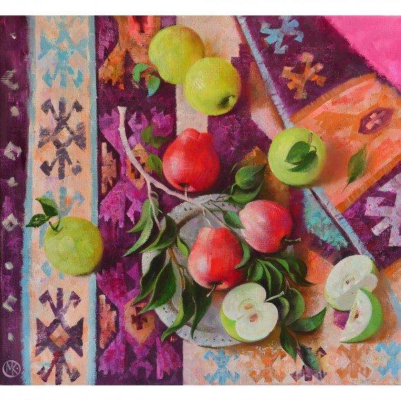 Натюрморт с яблоками Князева Мария