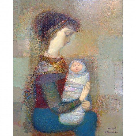 Мать с ребенком Керкеладзе Нико
