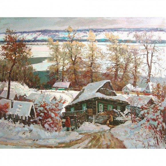 Зима на волжских берегах Мишагин Андрей