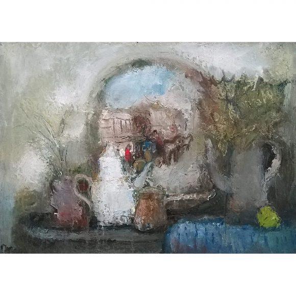 Натюрморт с декоративной тарелкой Пасечник Ольга