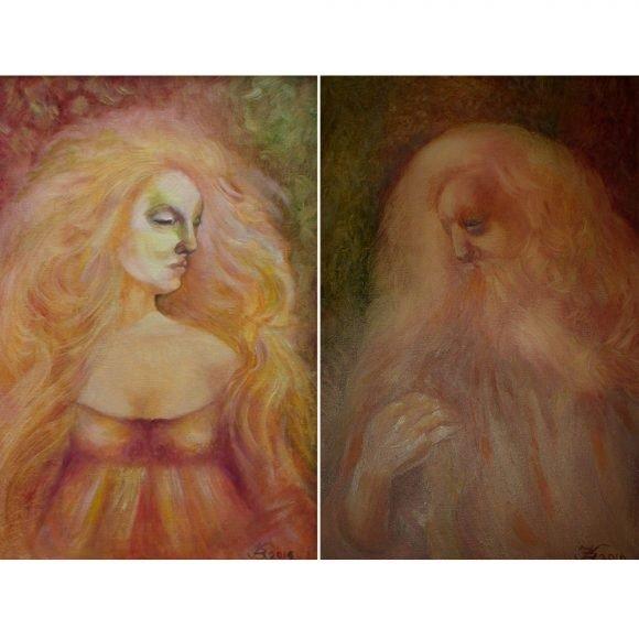 Сара и Авраам (диптих) Крушинина Валентина