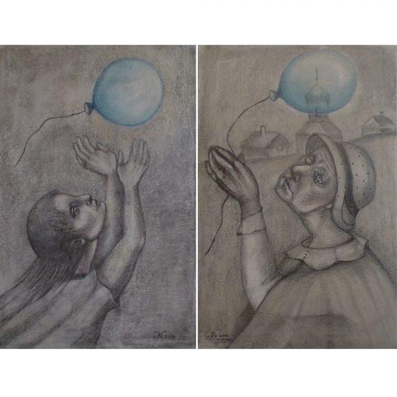 Шарик (диптих) Крушинина Валентина