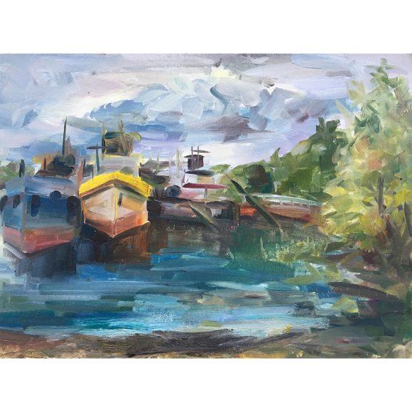 Лодки на причале Богачёва Татьяна