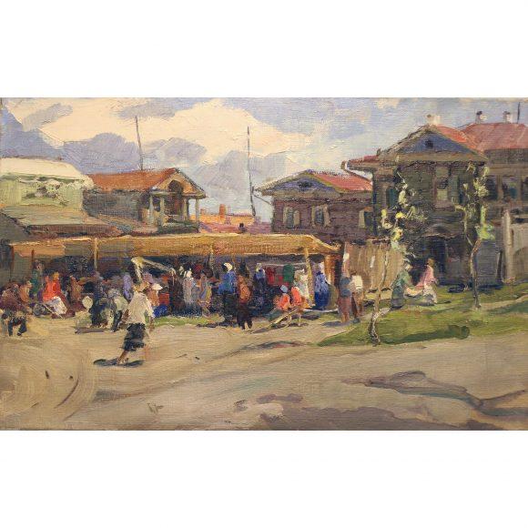 Базар в солнечный день Лежников Юрий