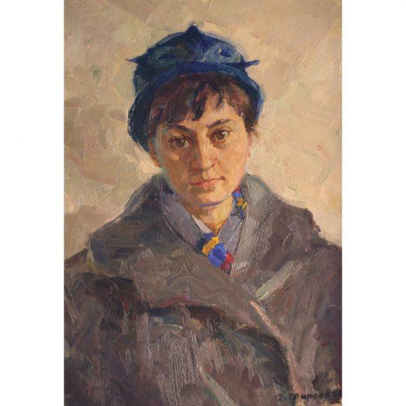 Девушка в синей шляпке Фирсов Алексей