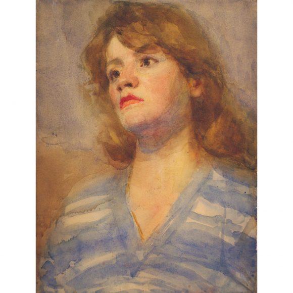 Девушка в голубой блузке