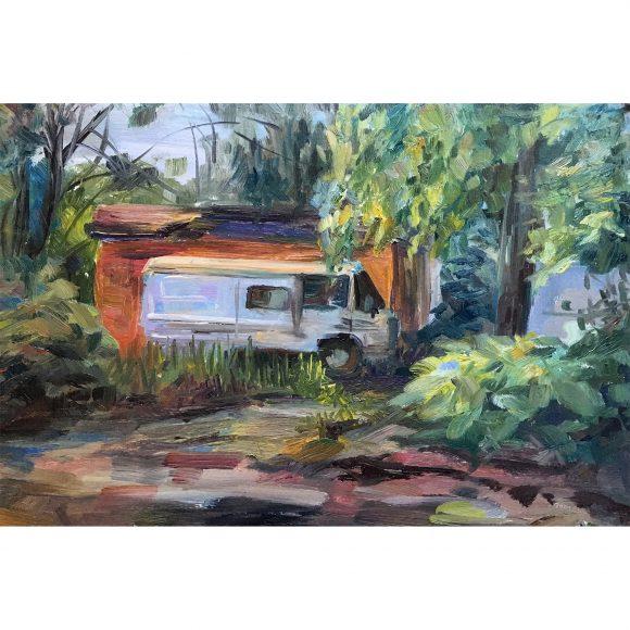 Грузовик у гаража Богачёва Татьяна