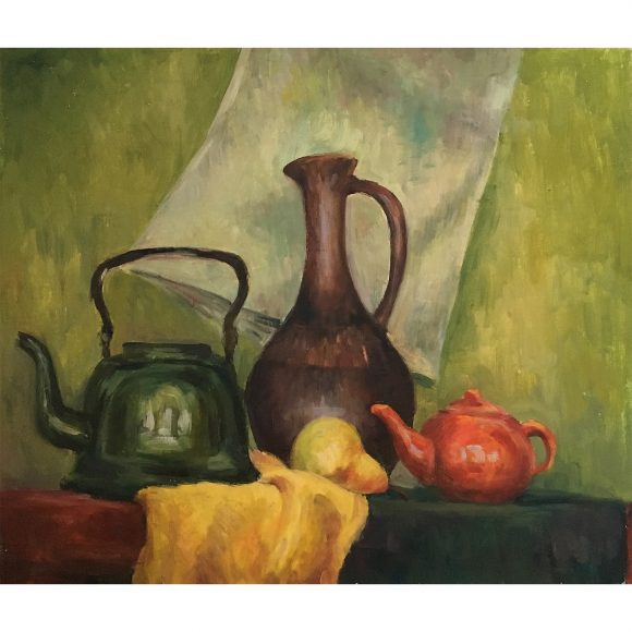 Зеленый натюрморт с грушей Богачёва Татьяна