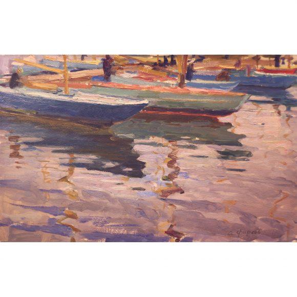 Лодки на пристани Фирсов Алексей