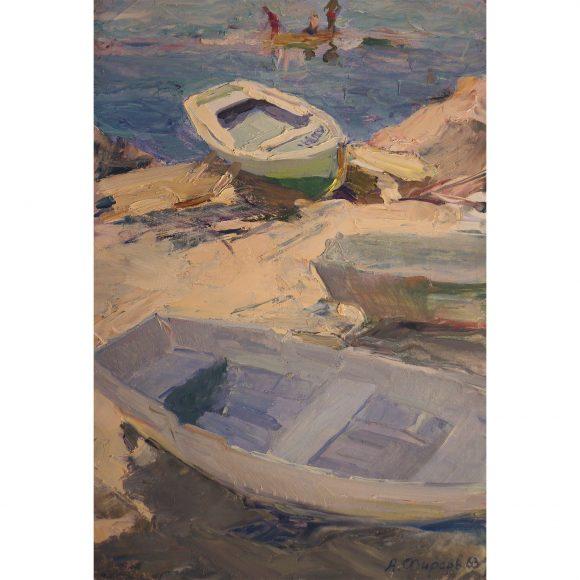 Лодки освещённые солнцем