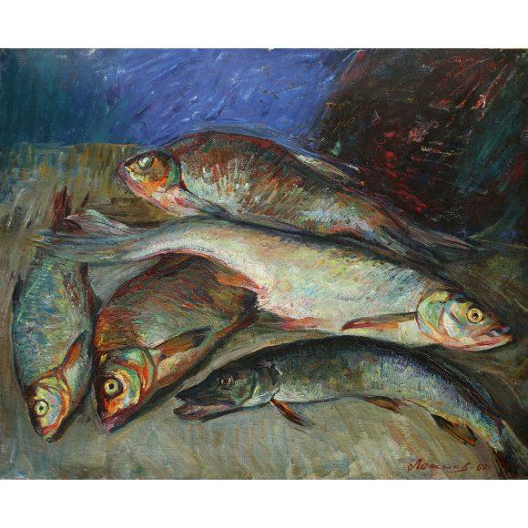Натюрморт с рыбой Лежников Юрий