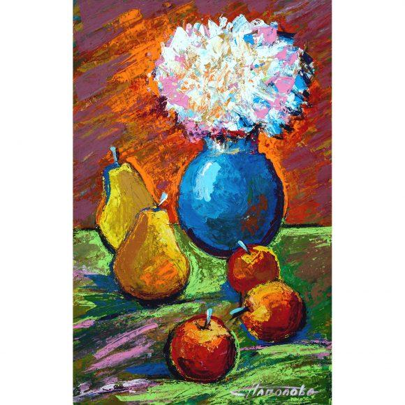 Натюрморт с синей вазой Наполова Наталья