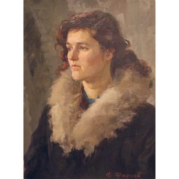 Портрет девушки в пальто Фирсов Алексей