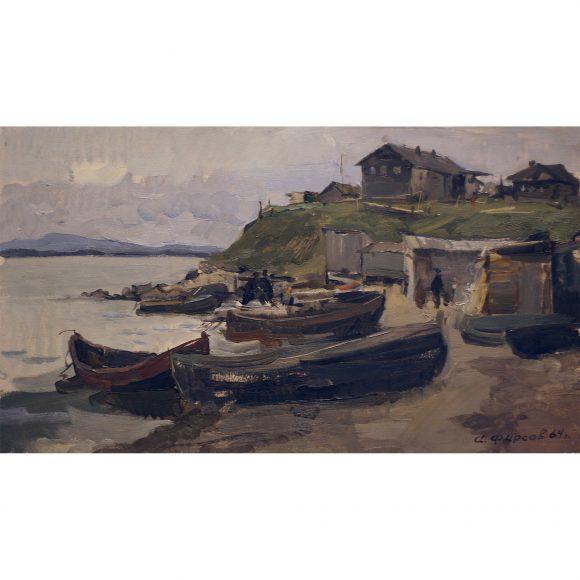 Рыбацкие лодки на севере Фирсов Алексей