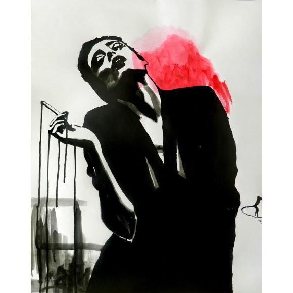 Smoking girl Art Simia