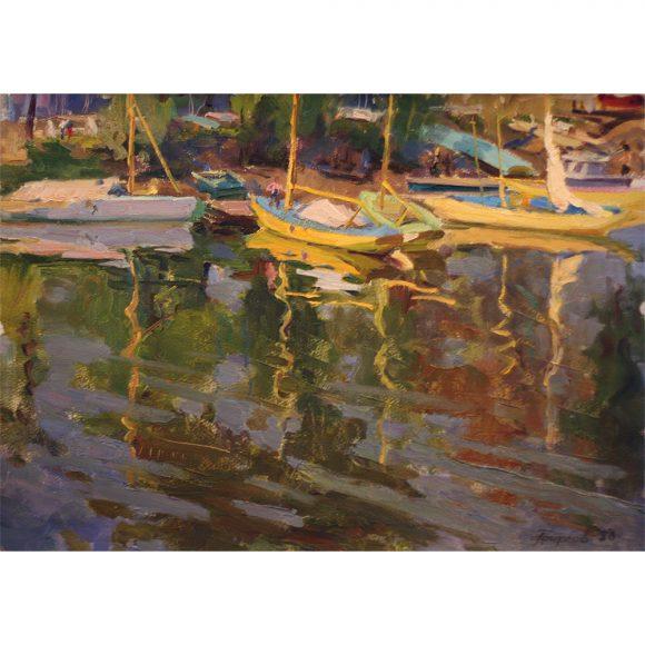Яхты у берега Фирсов Алексей