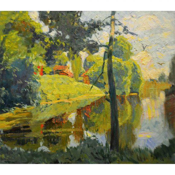 Ясным утром на тихом пруду Блинова Юлия