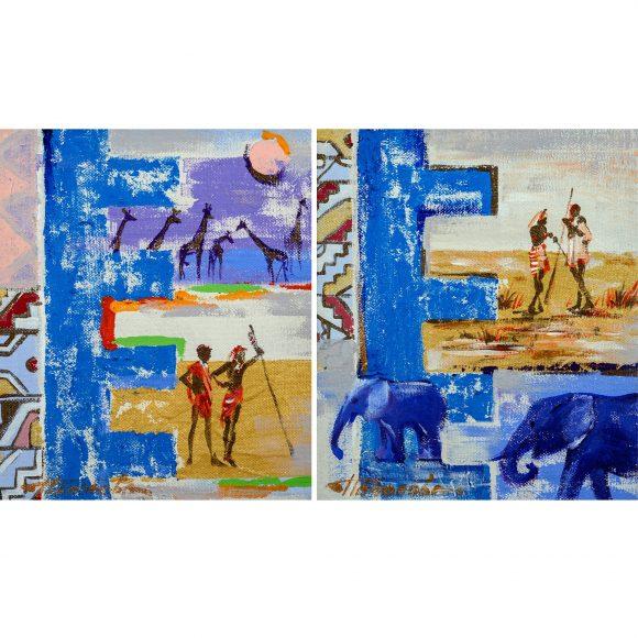 Африка. диптих Наполова Наталья