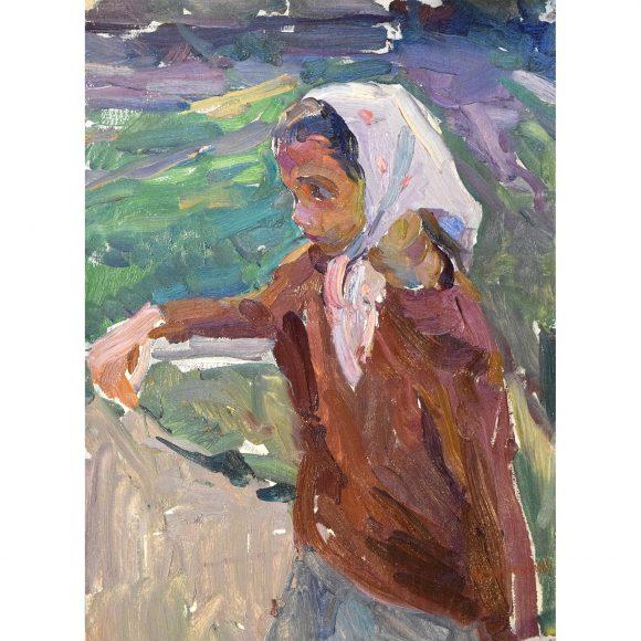 Девочка в белой косынке Лежников Юрий