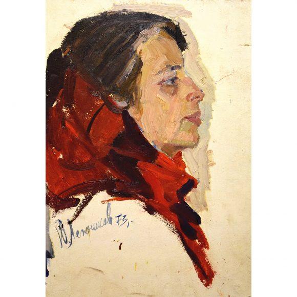 Девушка в красном платке Лежников Юрий