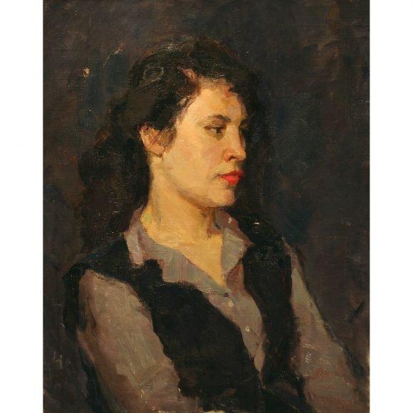 Портрет девушки на тёмном фоне Фирсов Алексей
