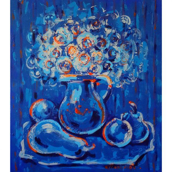 Синий натюрморт Наполова Наталья