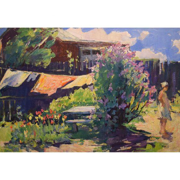 Весенний дворик Лежников Юрий