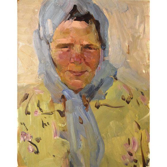 Женщина в голубом платке Лежников Юрий