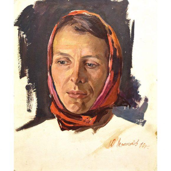 Женщина в красном платке