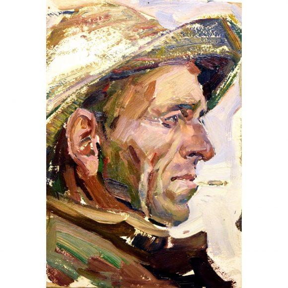 Портрет рыбака в профиль Лежников Юрий