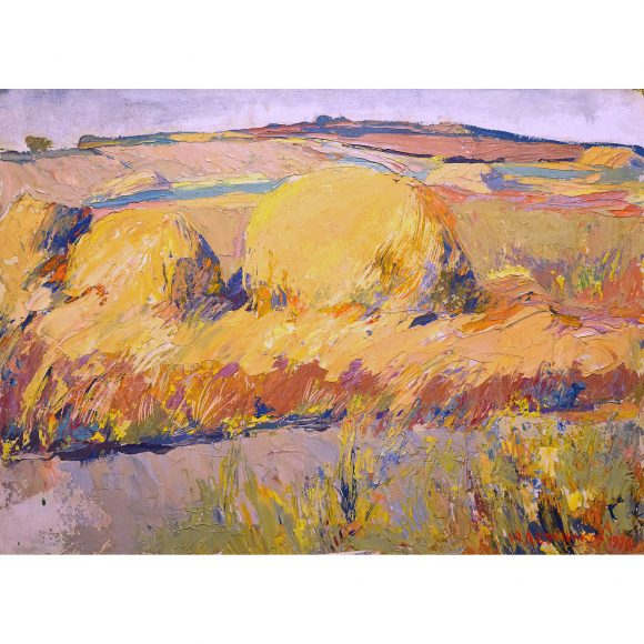 Стога в поле Лежников Юрий
