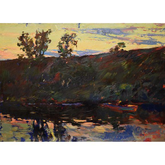 Сумерки на реке Лежников Юрий
