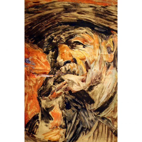 Портрет металлурга курящего Лежников Юрий