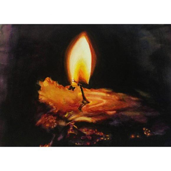 Догорающее пламя свечи Горбач Диана