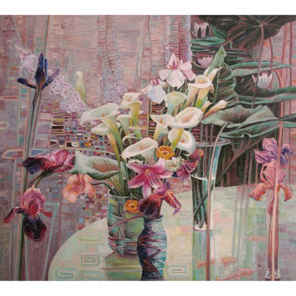Цветы. Модерн (левая часть диптиха) Семернин Владимир