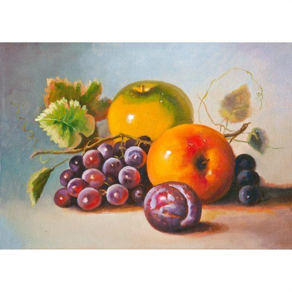Натюрморт с яблоками, виноградом и сливами Кугель Александр