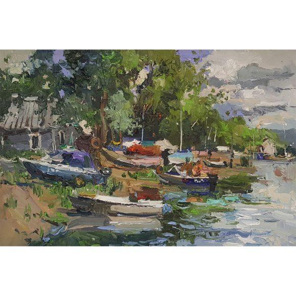 На лодочной станции Кузнецова Юлия