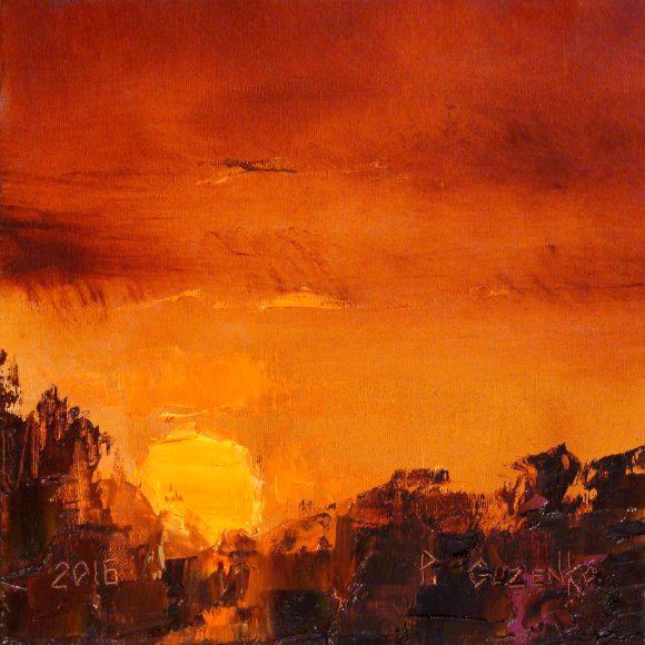 Закат над лесом Гузенко Павел